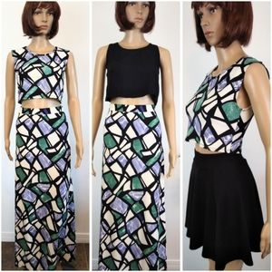 Capella Apparel top and skirt